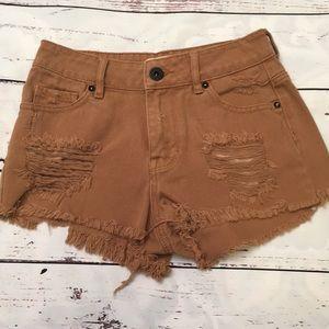 Bullhead caramel denim shorts